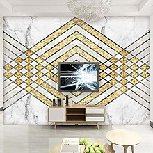 BYSQX Non-Woven Wallpaper Geometry Marble Lines