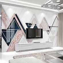 BYSQX Non-Woven Wallpaper Geometry Marble Texture