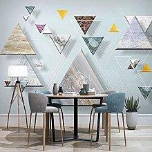 BYSQX Non-Woven Wallpaper Geometry Triangle Marble