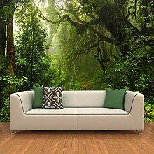 BYSQX Non-Woven Wallpaper Green Fog Landscape