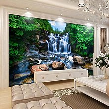 BYSQX Non-Woven Wallpaper Green Mountain Waterfall