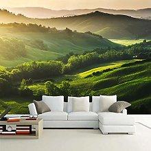 BYSQX Non-Woven Wallpaper Green Mountains Trees