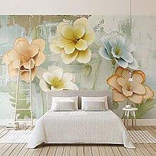 BYSQX Non-Woven Wallpaper Green Relief Plant
