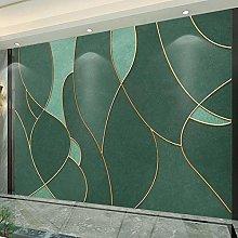 BYSQX Non-Woven Wallpaper Green Simple Golden