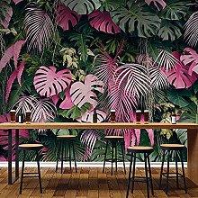 BYSQX Non-Woven Wallpaper Green Tropical Plants