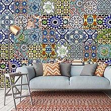 BYSQX Non-Woven Wallpaper Mosaic Abstract Pattern