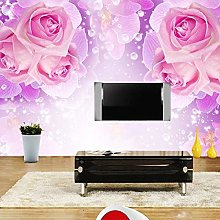 BYSQX Non-Woven Wallpaper Rose Flower Rose Red