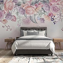 BYSQX Non-Woven Wallpaper Roses Flowers Watercolor
