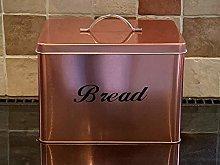 C . & . C Copper Coated Kitchen Square Bread Bin