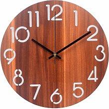 C-J-Xin Classic Wall Clock, Fashion Wood Grain