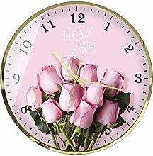 C-J-Xin Idyllic wall clock, Floral pattern wall