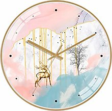 C-J-Xin No Numbers Wall Clock, Abstract Animal Oil
