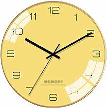 C-J-Xin Round Wall Clock, Classic Silent Wall