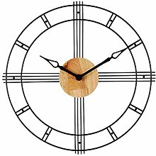 C-J-Xin Round Wall Clock, Openworked Metal Frame