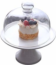 C-J-Xin White Ceramic Cake Stand, Multiple Sizes