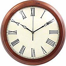 C-J-Xin Wooden Wall Clock, Oversized Decorative