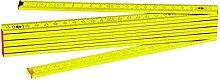 C.K t3514Wooden Folding Rule 2m, Yellow