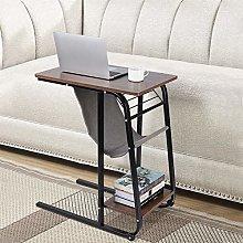 C Shaped End Side Table Bedside Laptop Desk on