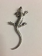C8 Lizard made from Solid Fine English Pewter
