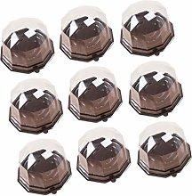 Cabilock 100Pcs Single Cupcake Boxes Disposable