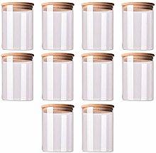 Cabilock 10pcs Glass Sealed Jar Can Food Storage