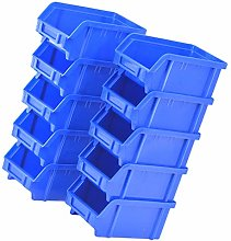 Cabilock 10pcs Plastic Storage Bin Hanging
