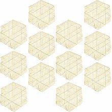 Cabilock 12pcs Bamboo Food Liner Mat Non Stick
