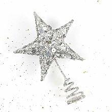 Cabilock 15cm Star Tree Topper Christmas White