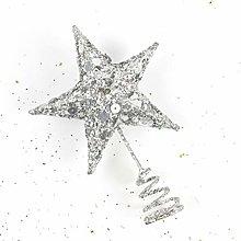 Cabilock 20cm Star Tree Topper Christmas White