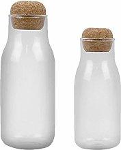 Cabilock 2Pcs Glass Storage Jars Food Storage Jar
