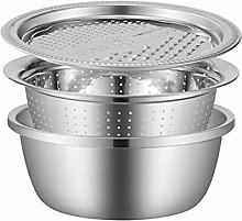Cabilock 3 in 1 Stainless Steel Drain Basket