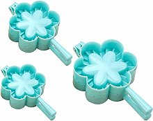 Cabilock 3pcs Dumplings Maker Mold Flower Shape