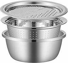 Cabilock 3pcs Vegetable Cutter Basket Slicer Set