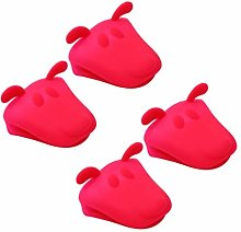 Cabilock 4pcs Silicone Pot Holder Oven Mitts