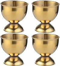 Cabilock 4PCS Stainless Steel Egg Cup for Hard