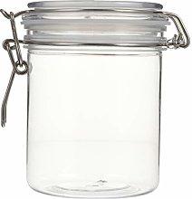 Cabilock 550ml Transparent Food Jar Airtight Lid