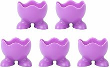 Cabilock 5Pcs Silicone Egg Cup Holders Egg Cup