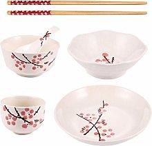 Cabilock 6pcs Dinnerware Set Ceramic Plates Dish