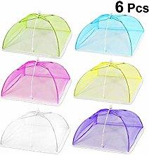 CABILOCK 6PCS Foldable Pop-Up Mesh Food Cover Tent