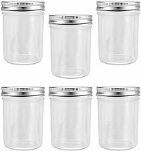 Cabilock 6Pcs Glass Food Storage Jar Kitchen