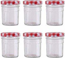 Cabilock 6pcs Glass Seasoning Jar Spice Bottle Tea