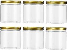Cabilock 6pcs Plastic Jar with Airtight Seal Lid