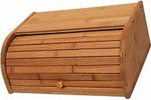 Cabilock Bamboo Bread Box 1PC - Wooden Bread Bin,