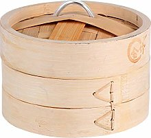 Cabilock Bamboo Steamer Basket 2 Tier Steamer