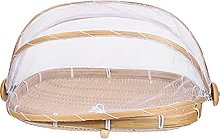 Cabilock Bamboo Woven Food Dome Lid Cover with
