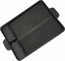 Cabilock Cast Iron Grill Pan Griddle with Handles