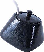 Cabilock Ceramic Spice Jar Seasoning Box Condiment