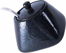 Cabilock Ceramic Sugar Bowl Spice Jar with Lid