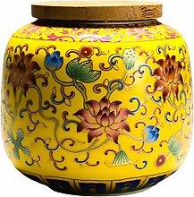 Cabilock Ceramic Tea Caddy Airtight Lid Coffee