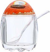 Cabilock Clear Acrylic Seasoning Box Jam Jar Sugar